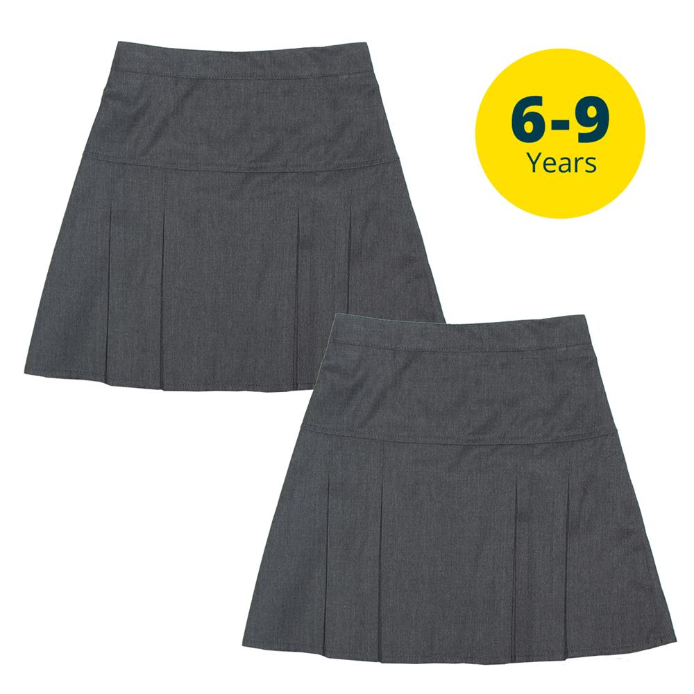 Picture of Back to School 2 Pack Grey Skirts