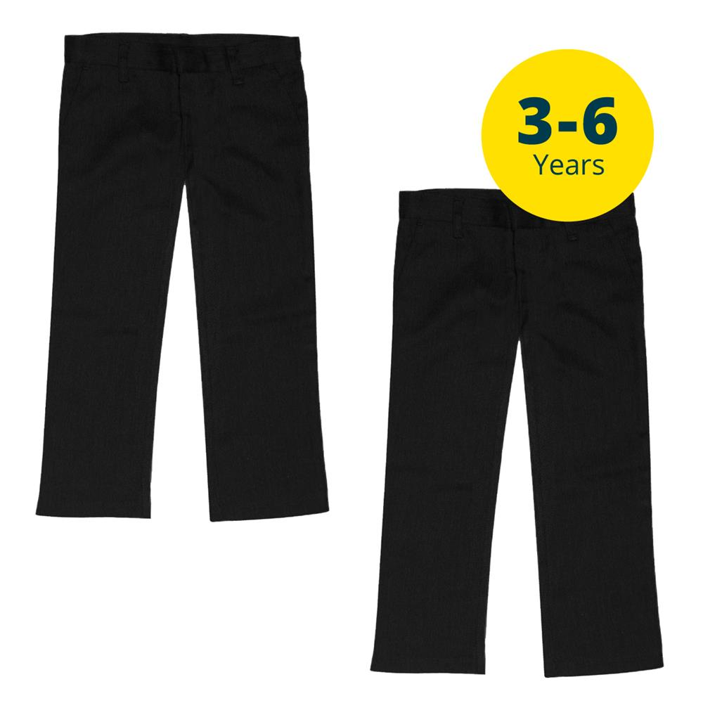 Picture of Back to School 2 Pack Black Trousers