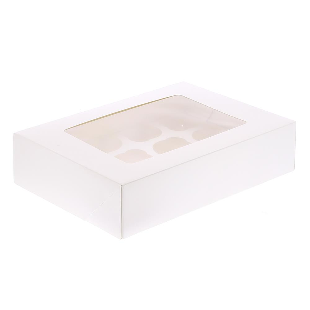 Picture of Jane Asher: 12 Hole Cupcake Box 2 Pack - Plain (Case of 24)