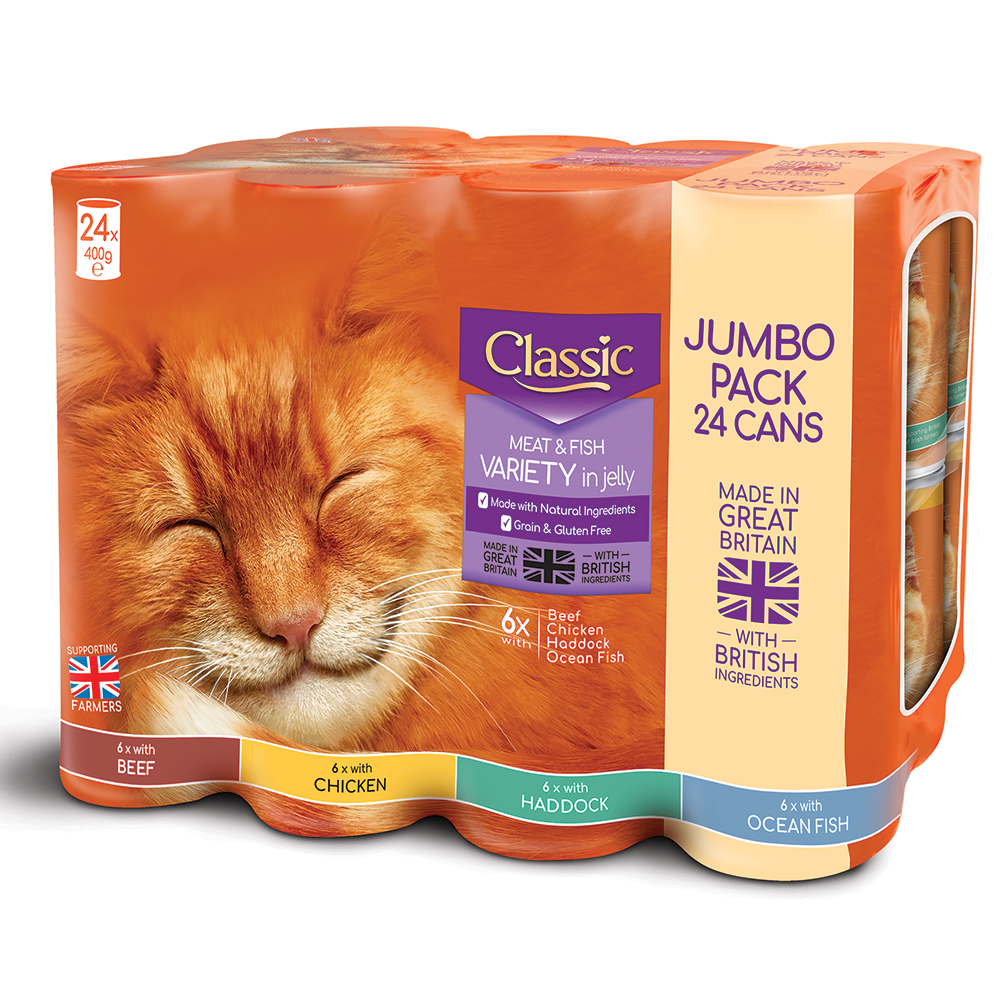 Picture of Butchers Classic Meat & Fish Variety in Jelly Jumbo Pack (24 x 400g Can)