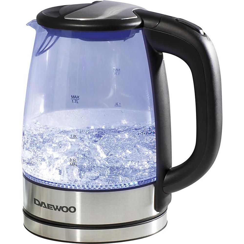 Picture of Daewoo Illuminated 1.7L Durable Glass & Stainless Steel Kettle 2200W