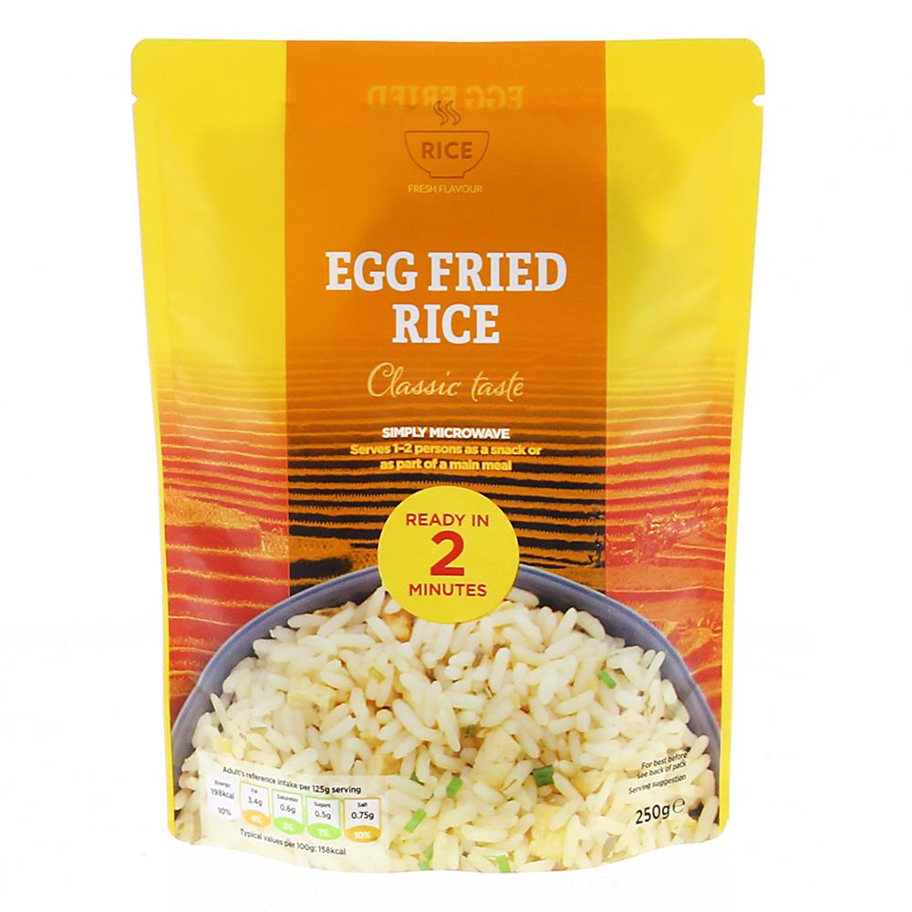 Picture of Rice: Egg Fried Rice Microwavable Packet 250g (Case of 12)