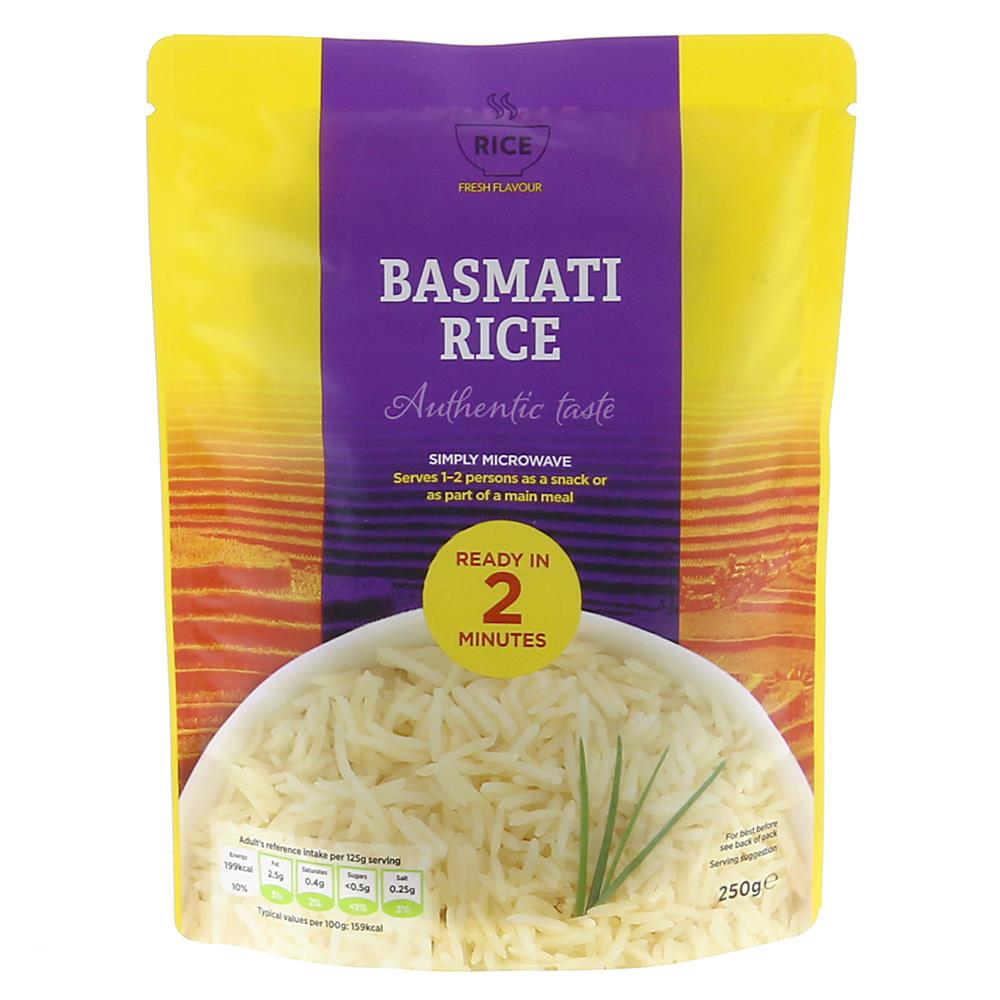 Picture of Rice: Basmati Rice Microwavable Packet 250g (Case of 12)