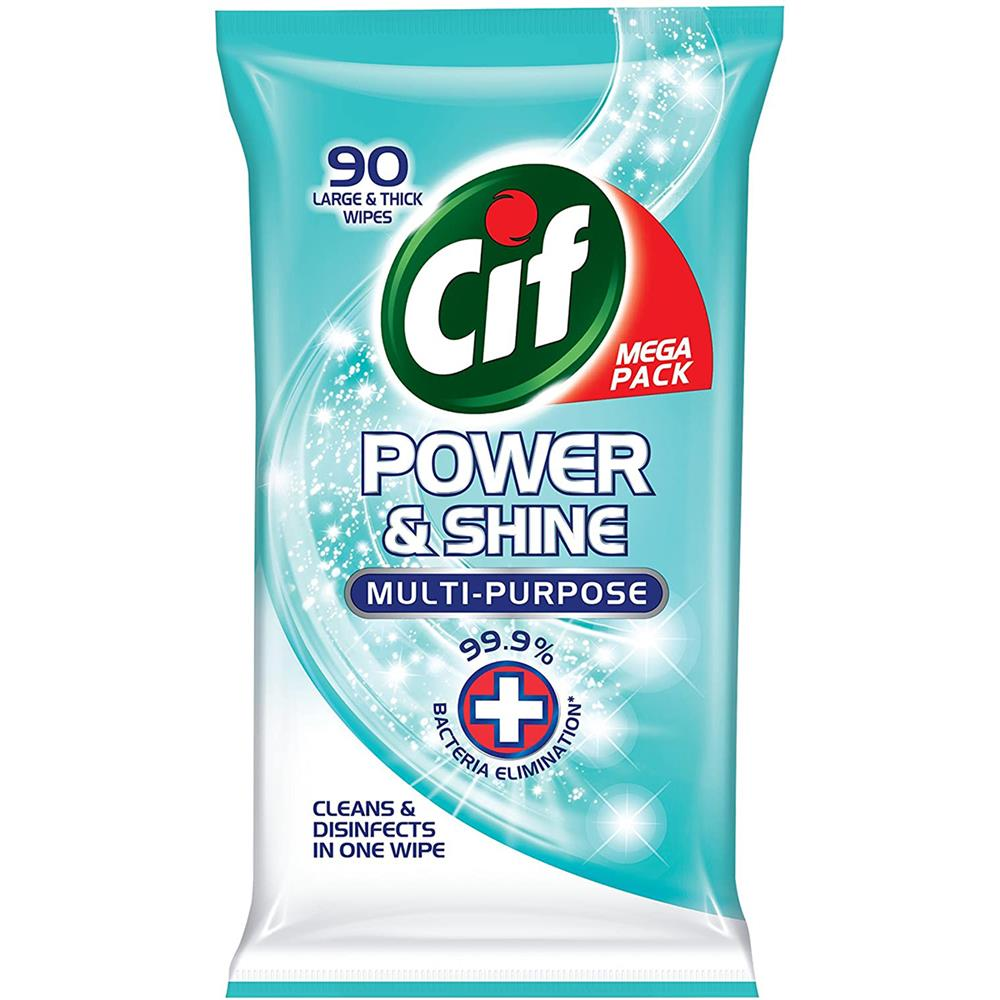 Picture of Cif Power & Shine Multi-Purpose Large & Thick Wipes (4 x 90 Pack)