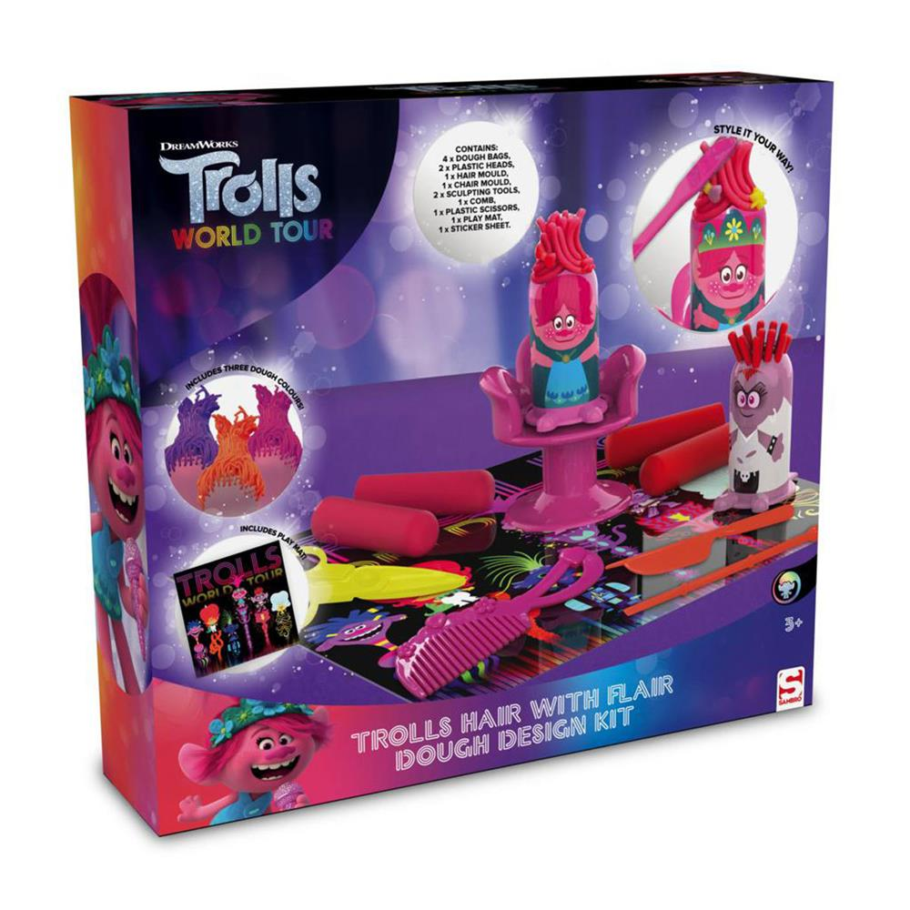 Picture of Trolls World Tour Hair with Flair Dough Design Kit