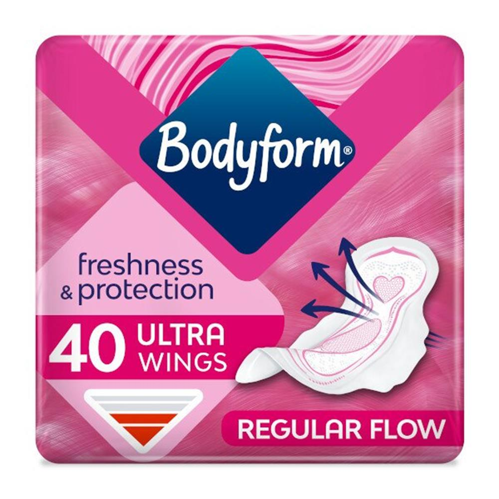 Picture of Bodyform Freshness & Protection Ultra+ Towels with Wings (8 x 40 Pack)
