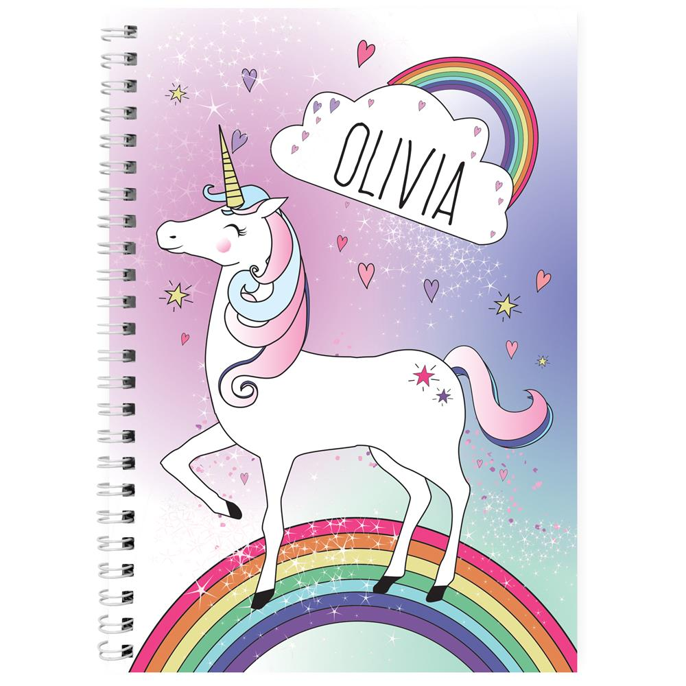 Picture of Personalised Unicorn Notebook