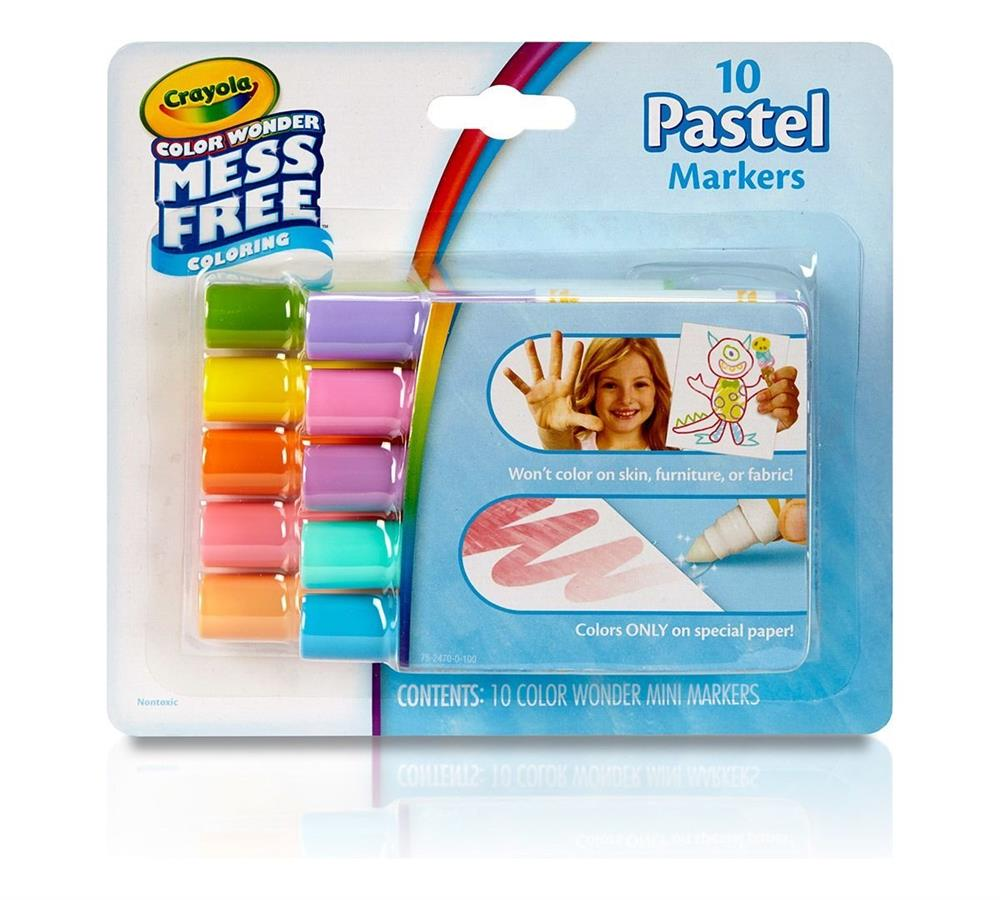 Picture of Crayola Colour Wonder Mess Free Colouring 10 Pastel Makers