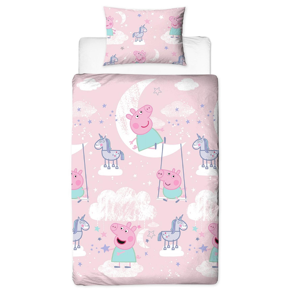 Picture of Peppa Pig Stardust Single Reversible Duvet Set