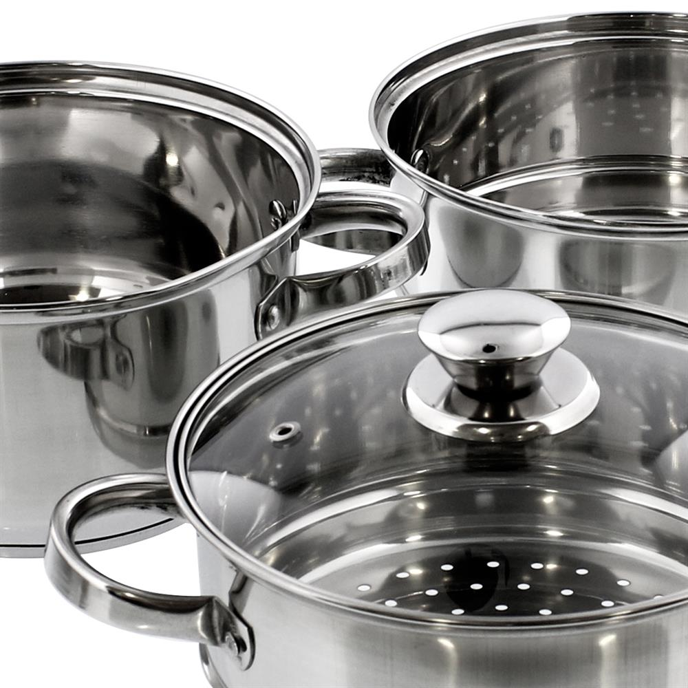 Picture of Open Kitchen Stainless Steel 3 Tier Steamer