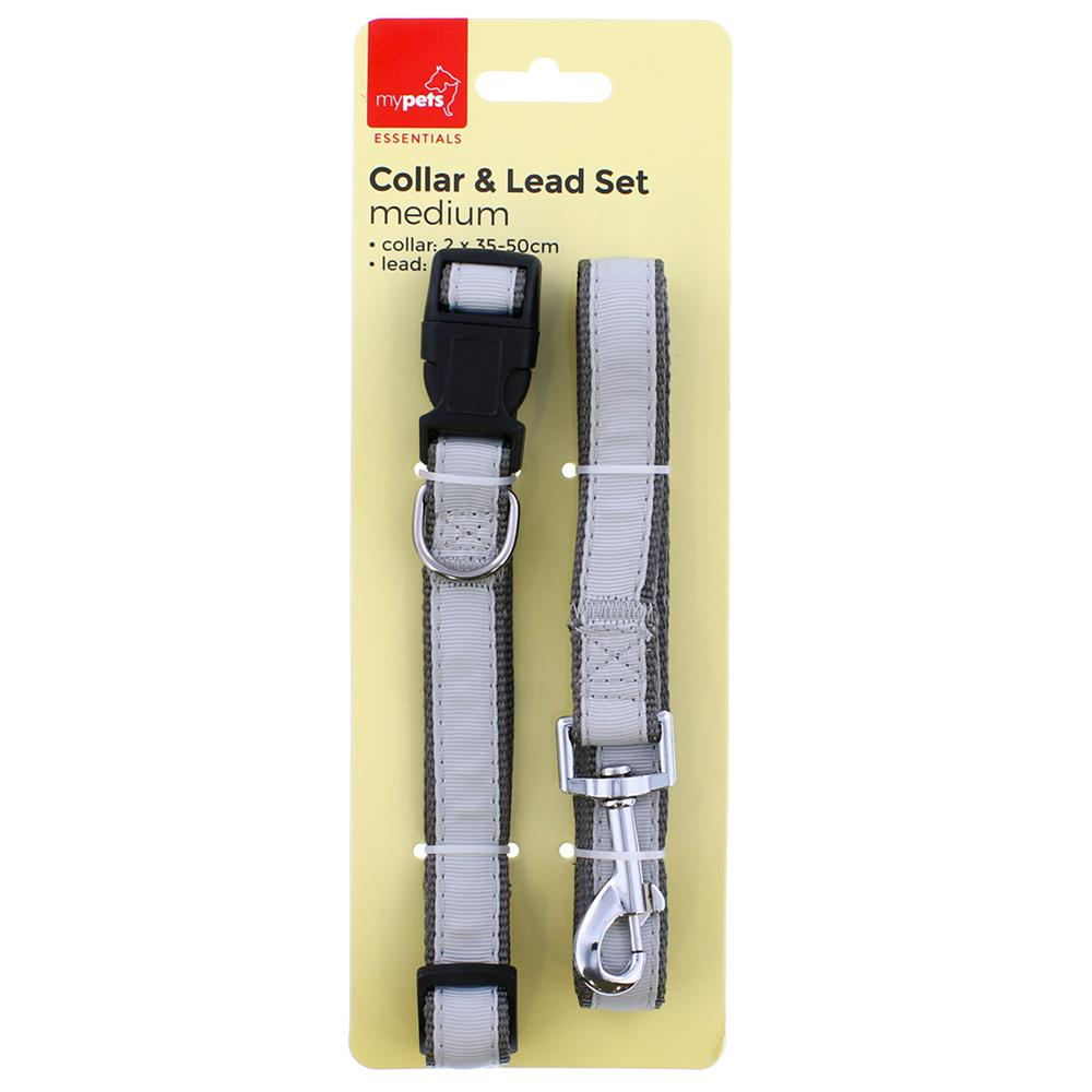 Picture of Collar & Lead Set in Grey