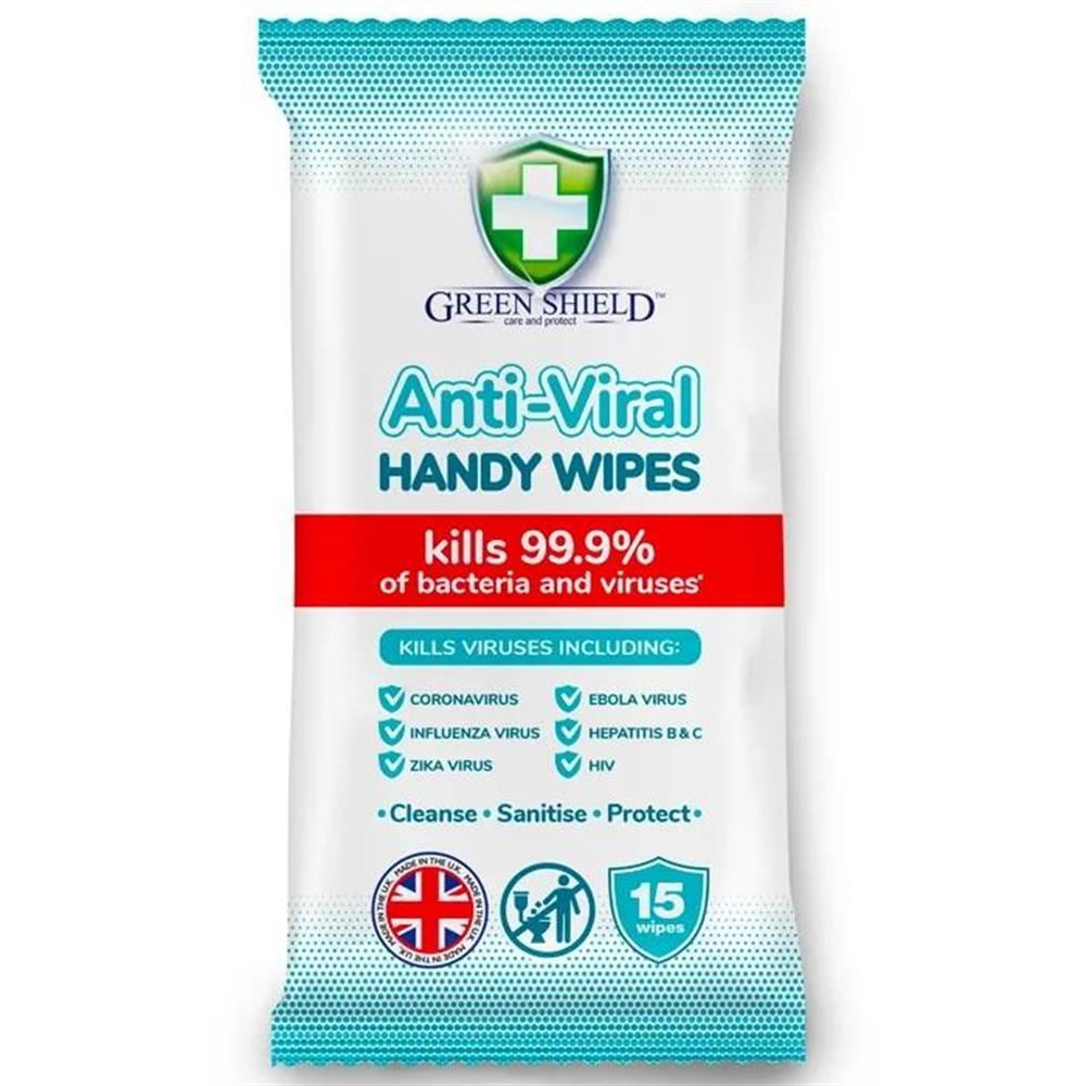 Picture of Green Shield Anti-Viral Handy Wipes (24 x 15 Wipes)