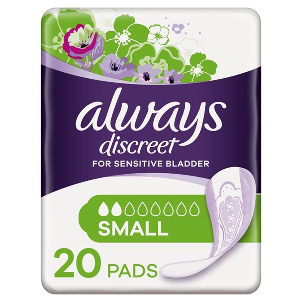 Picture of Always Discreet For Sensitive Bladder Small (6 x 20 Pads)