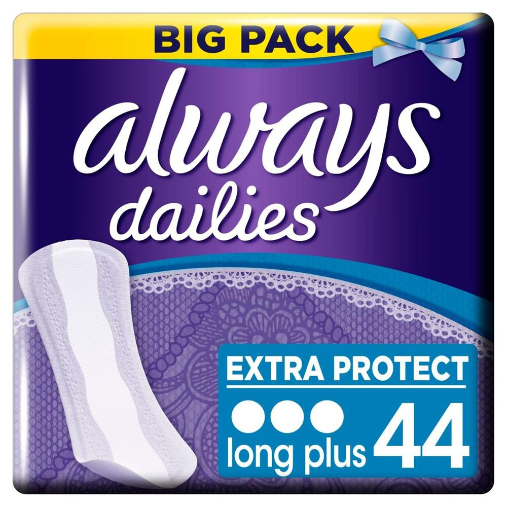 Picture of Always Dailies Long Plus Extra Protect (4 x 44 Pantyliners)