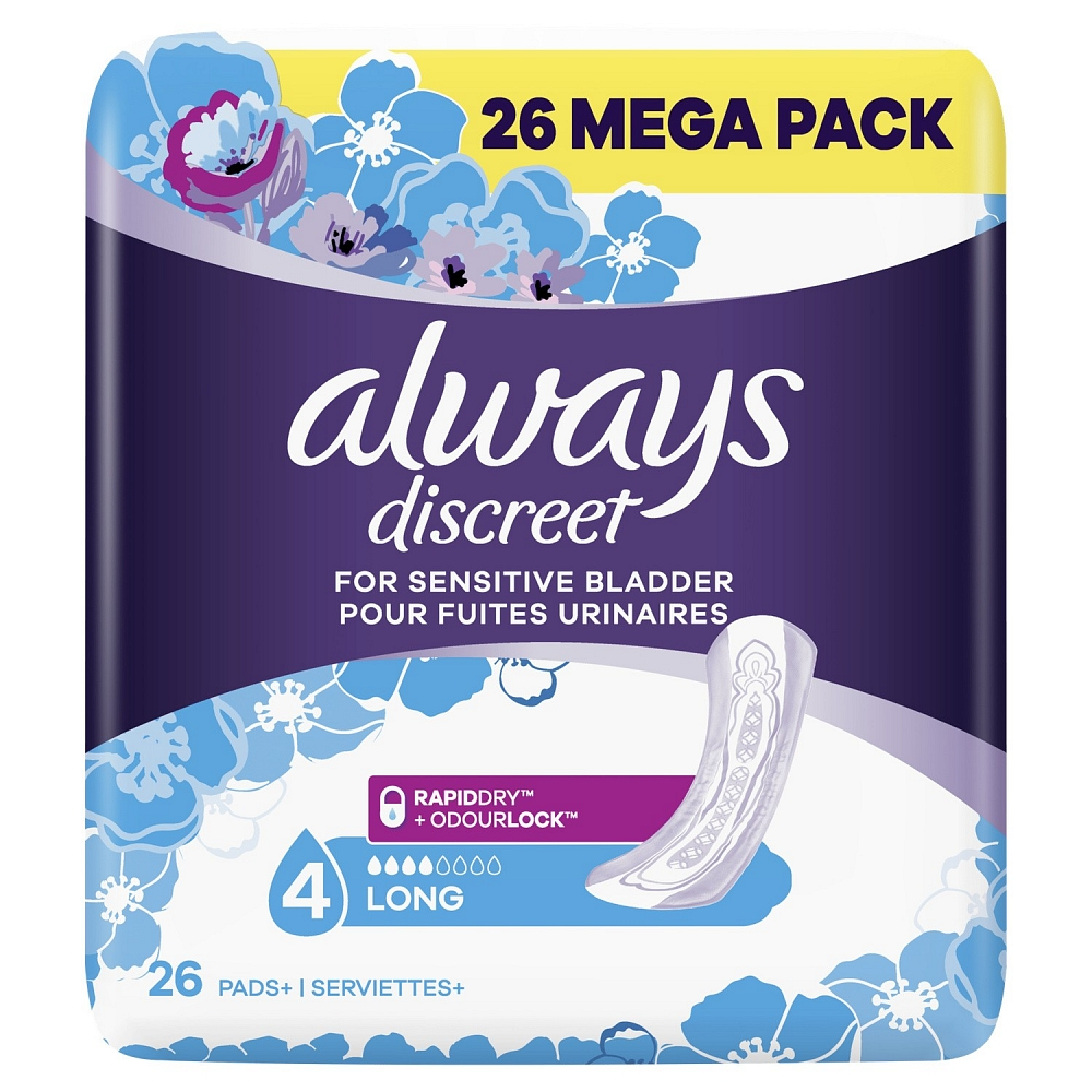 Picture of Always Discreet For Sensitive Bladder Long Mega Pack (3 x 26 Pads)