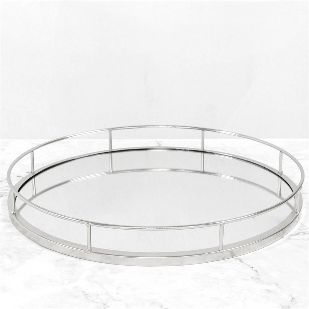 Picture of Silver Round Mirror Tray