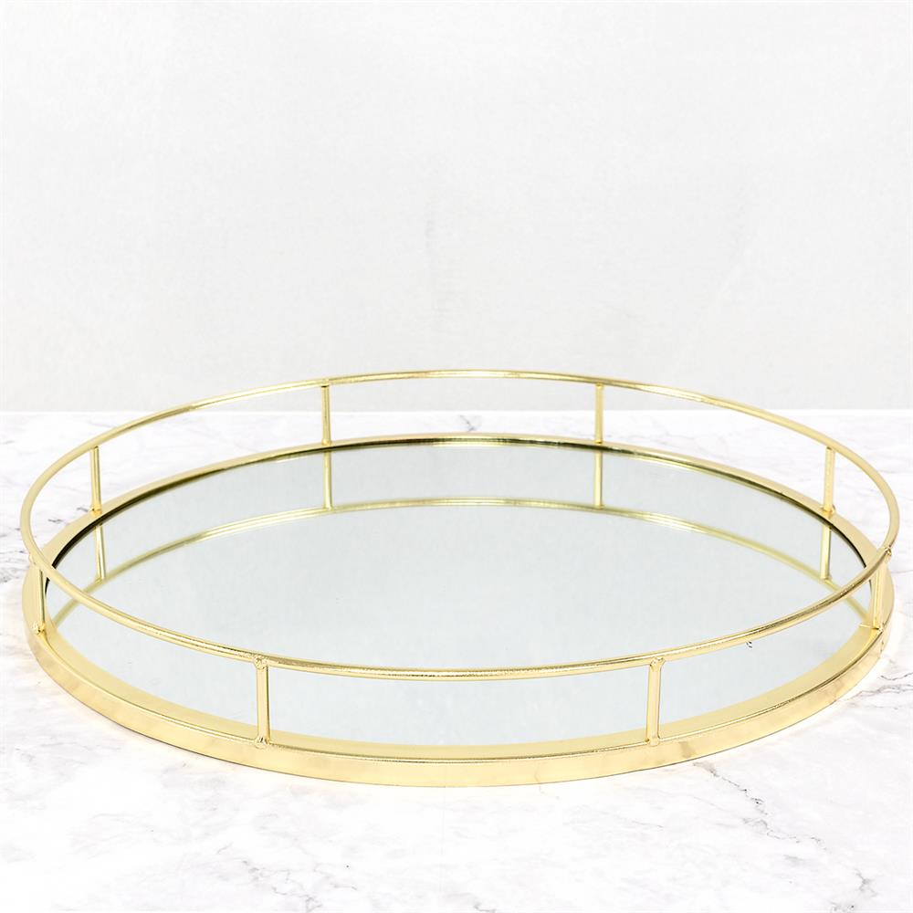 Picture of Gold Round Mirror Tray