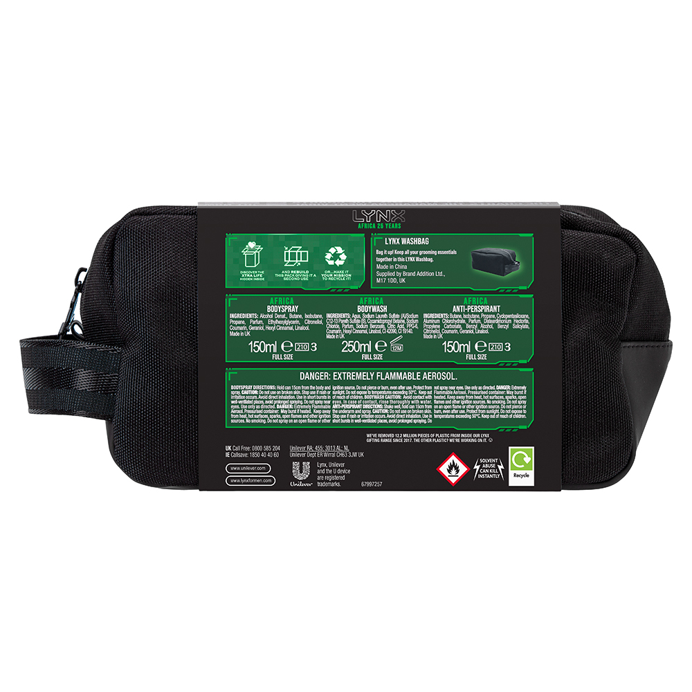 Picture of Lynx Africa 25 Years Washbag Gift Set