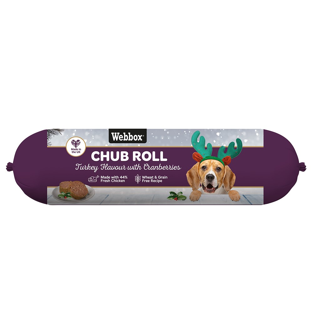 Picture of Webbox Chub Roll Turkey Flavour with Cranberries (15 x 720g Roll)