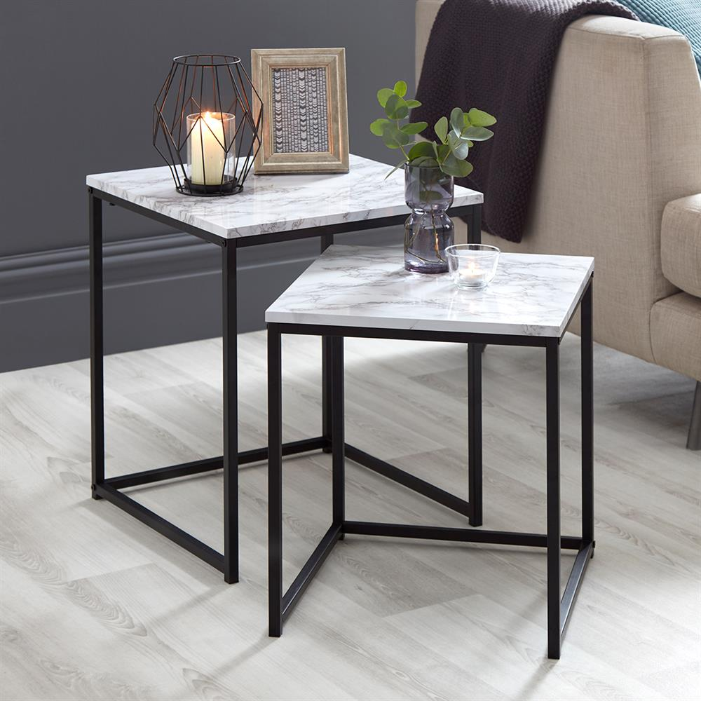 Picture of Loft Range Marble Nest of Tables