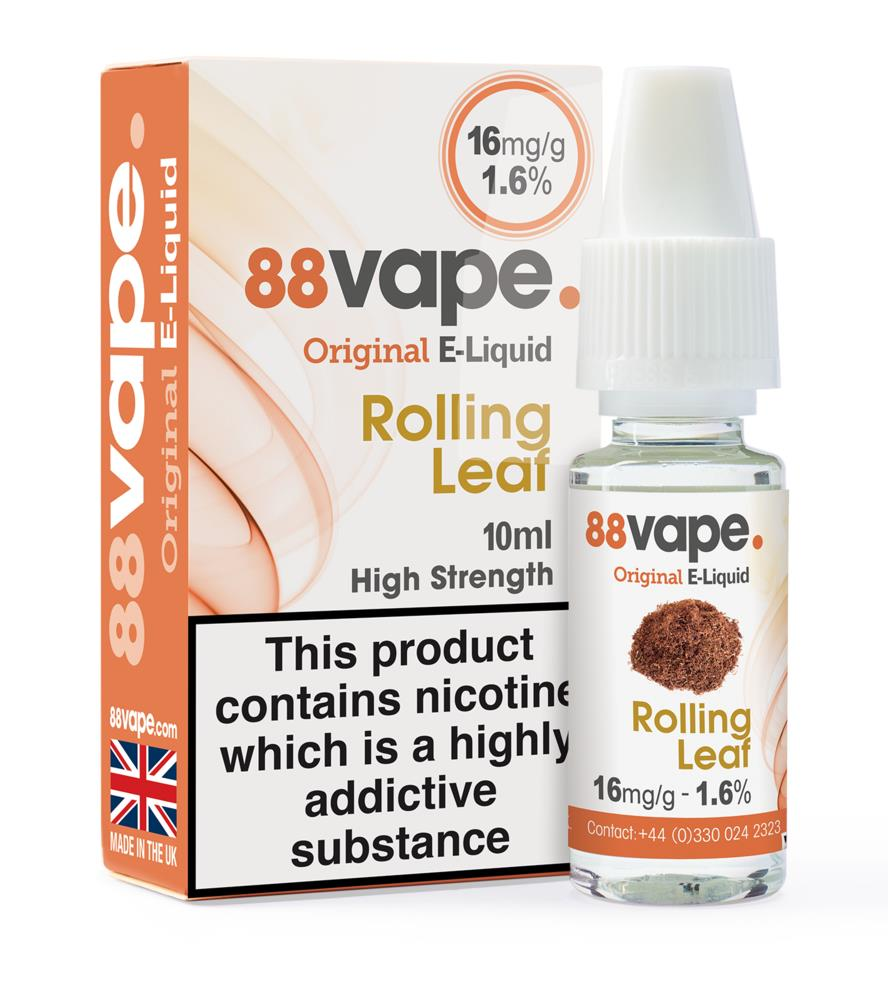 Picture of 88Vape Rolling Leaf E-Liquid 16mg/g 10ml (Case of 20)