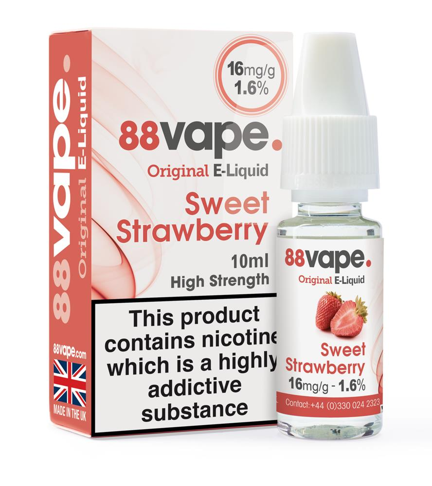 Picture of 88Vape Sweet Strawberry E-Liquid 16mg/g 10ml (Case of 20)