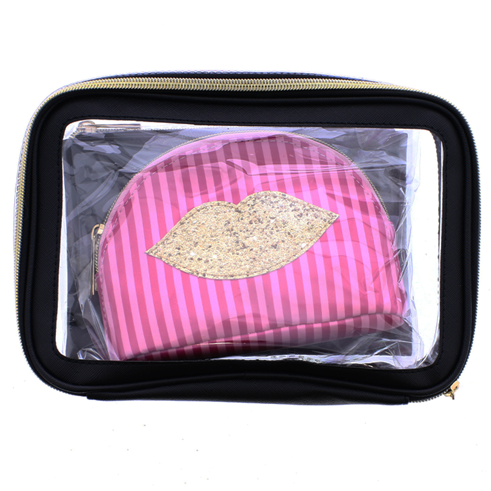 Picture of Lips 3 Piece Cosmetic Bag