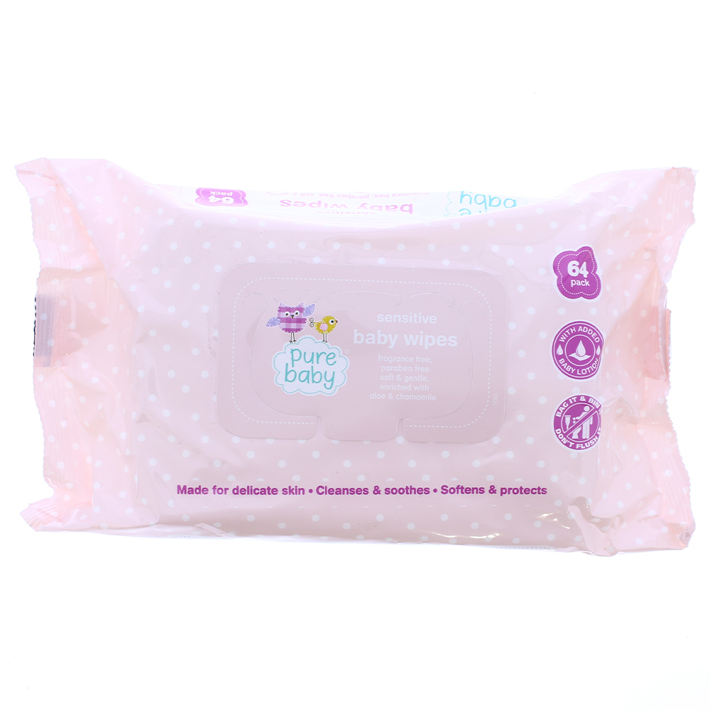 Picture of Pure Baby Sensitive Wipes (Box of 12)