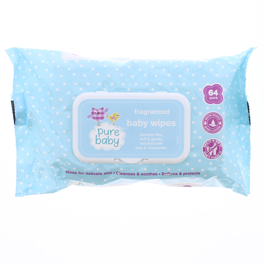 Picture of Pure Baby Fragranced Wipes (Case of 24)