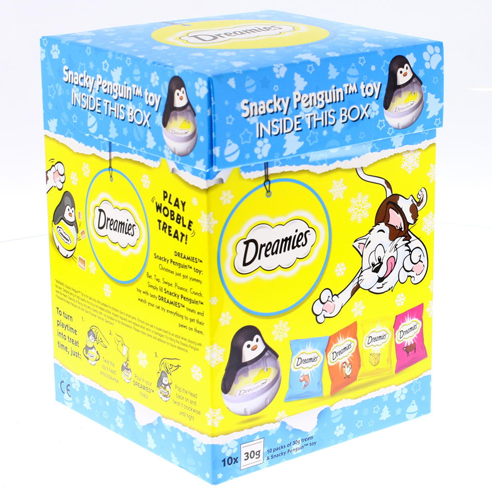 Picture of Dreamies Christmas Gift Box Adult Cat Treats with Snacks Penguin (300g)