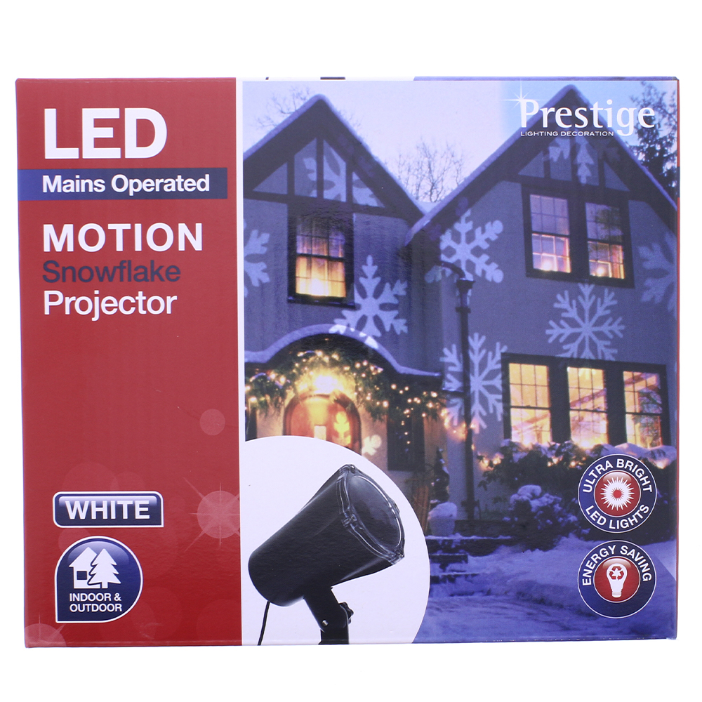 Picture of Prestige Lighting: LED Motion Snowflake Projector