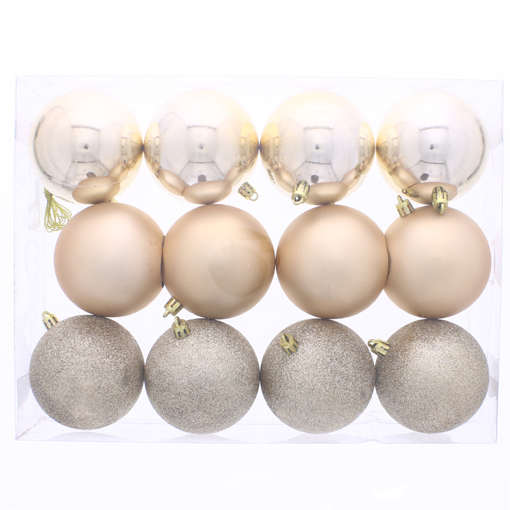 Picture of Noel Christmas Baubles Gold (12 x 8cm Baubles)