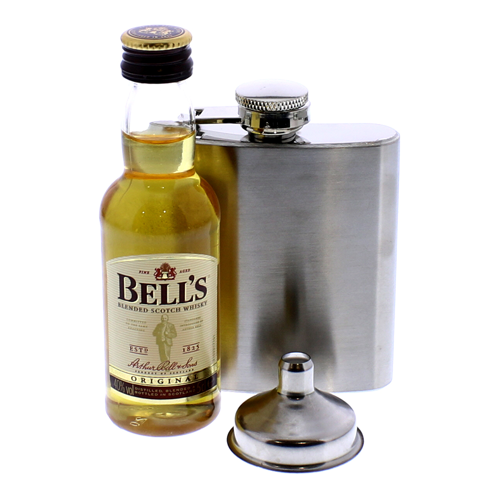 Picture of Whisky 5cl (40% vol.) & Hip Flask Gift Set