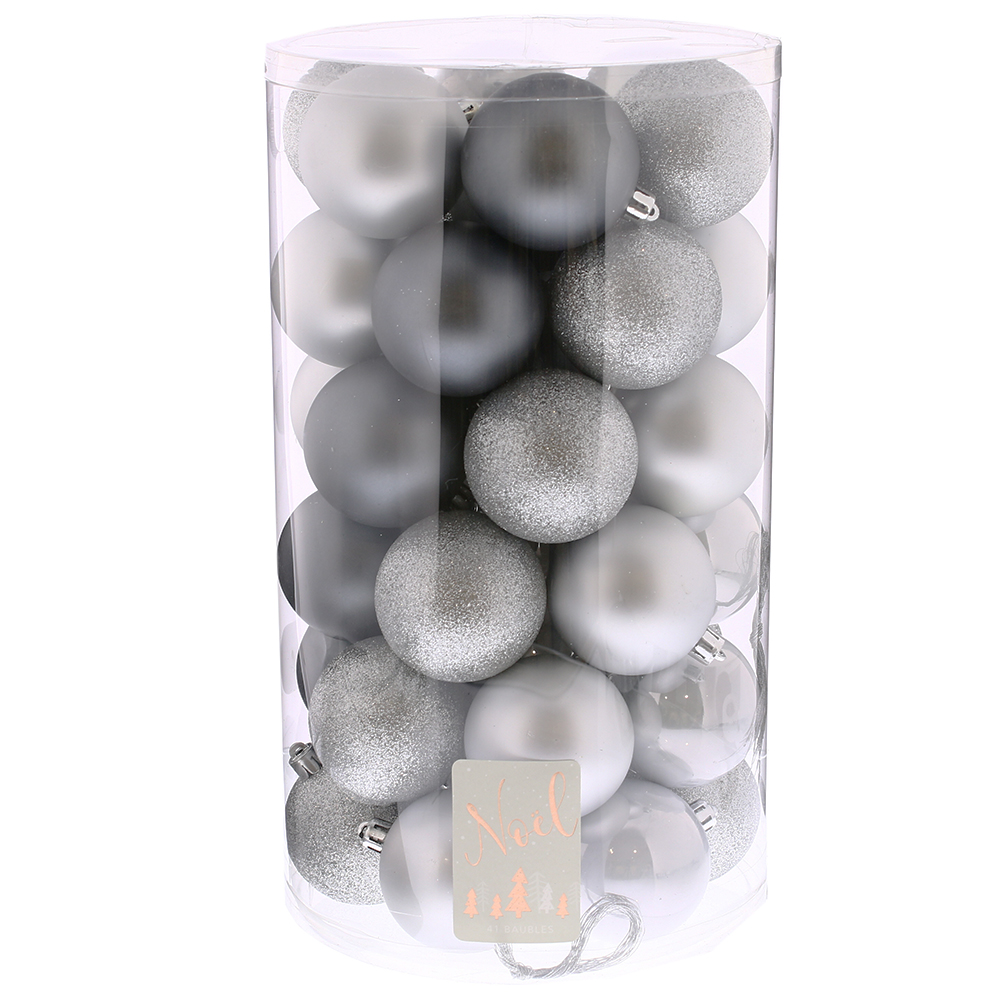 Picture of Noel 41 Piece Silver Christmas Bumper Bauble Pack