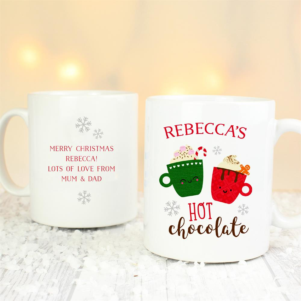 Picture of Personalised Cute Christmas Hot Chocolate Mug