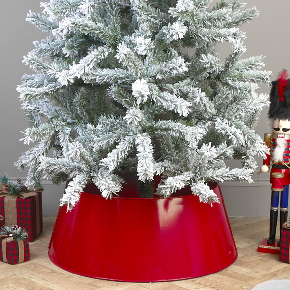 Picture of Christmas Tree Metal Skirt - Red
