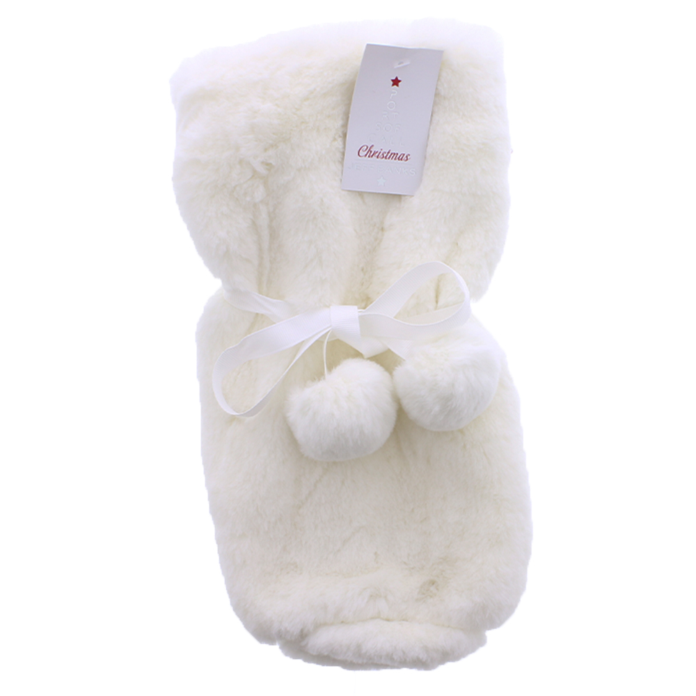 Picture of Jeff Banks Plush Faux Bottle Bag- White