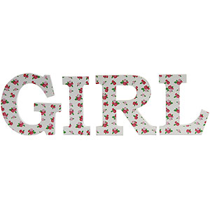 Buy Decorative Wooden Letters Girl At Home Bargains