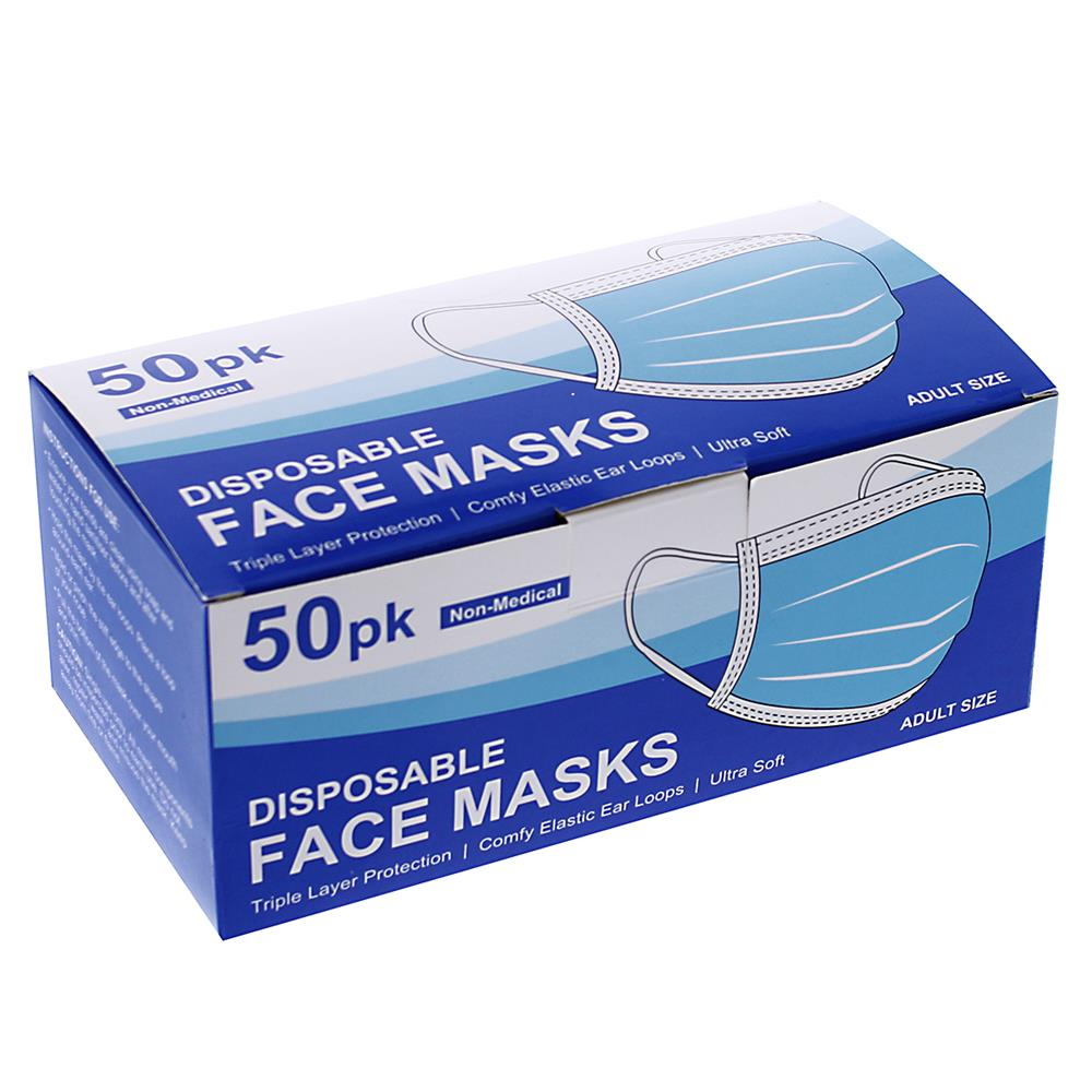 Picture of 50 Adult Disposable Face Masks
