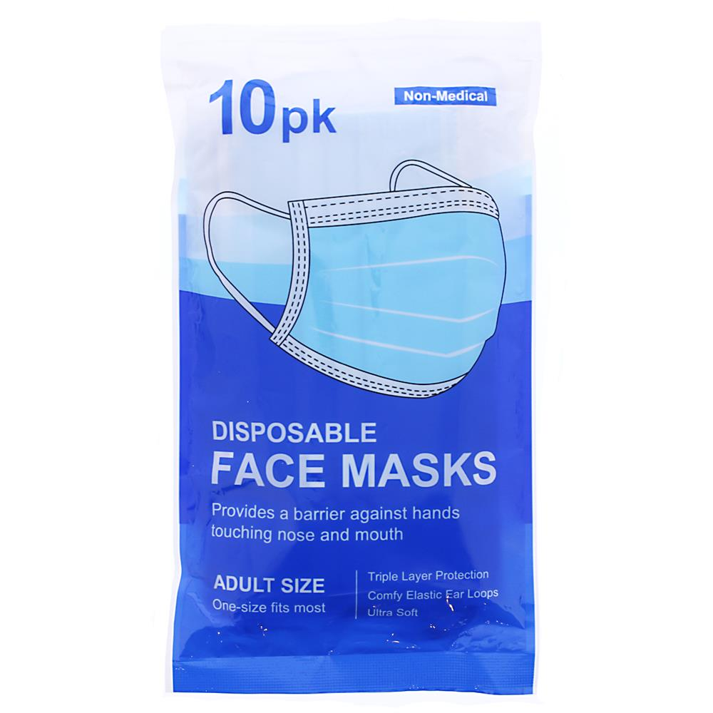 Picture of Disposable Face Masks with Elastic Ear Loop (10 Pack)