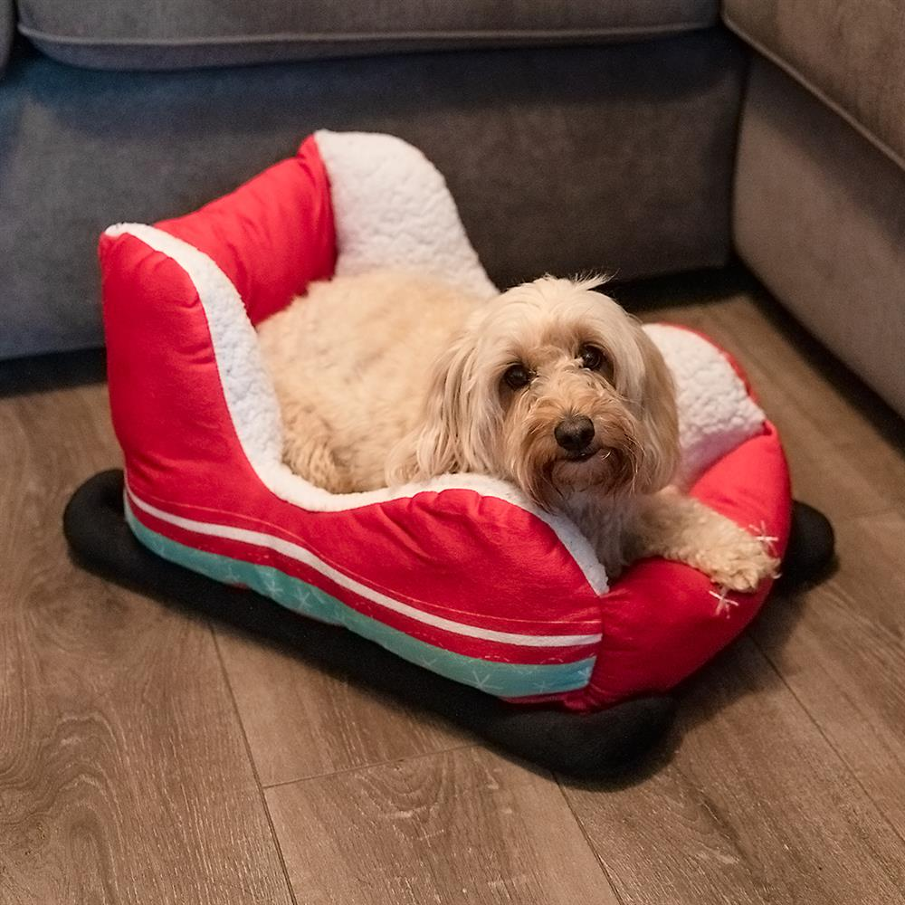 Picture of Christmas Sleigh Pet Bed