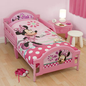 Buy Disney Minnie Mouse Toddler Bed Frame At Home Bargains