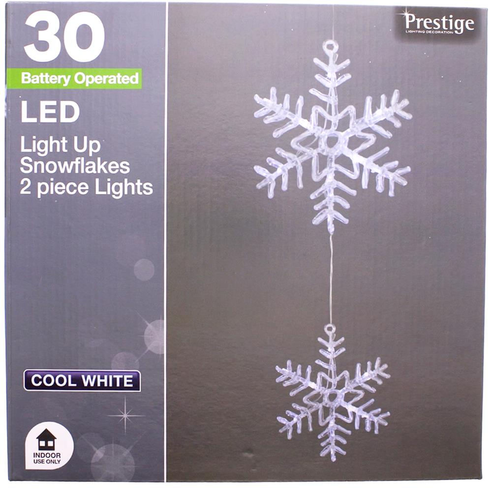 Picture of Prestige Lighting: 30 LED Light Up Snowflakes 2 Piece