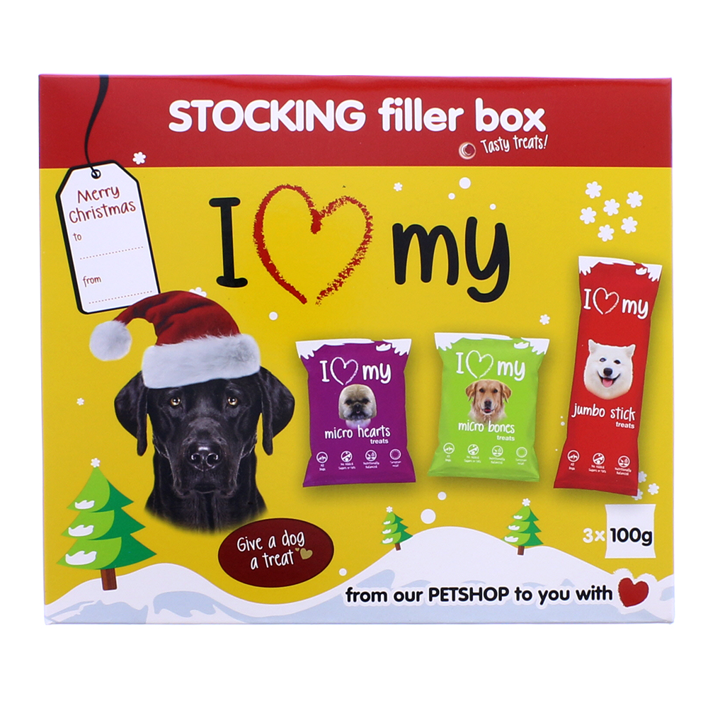 Picture of I Love My Dog Stocking Filler Box (Case of 16)