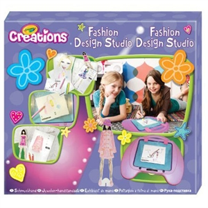 Buy Crayola Creations Fashion Design Studio At Home Bargains