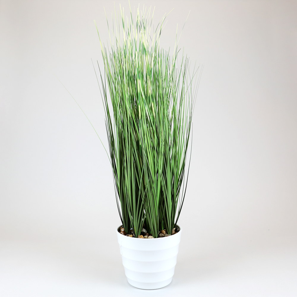 Picture of Faux Grass in White Pot