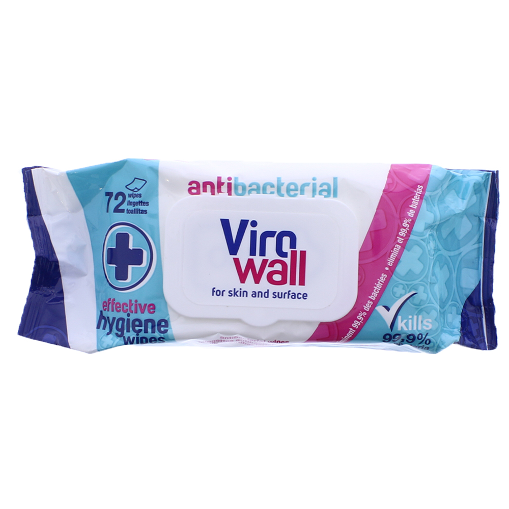 Picture of Virowall Anti-Bacterial Wipes (Case of 12)
