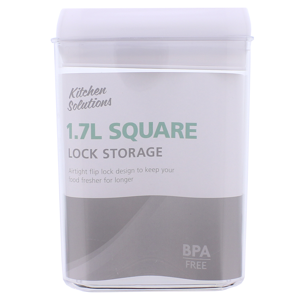 Picture of Kitchen Solutions: 3 Square Lock Storage 1.7l