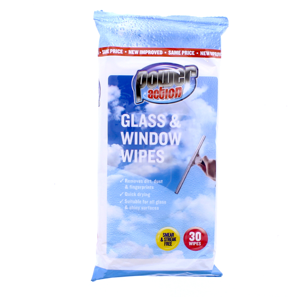 Picture of Power Action Glass & Window Wipes (Case of 36)