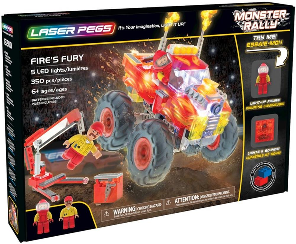 Picture of Laser Pegs: Monster Rally Fire's Fury